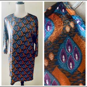 Anthropologie Aryeh Velvet Shift Dress NWT sz M